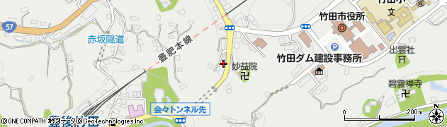 大分県竹田市会々1516周辺の地図