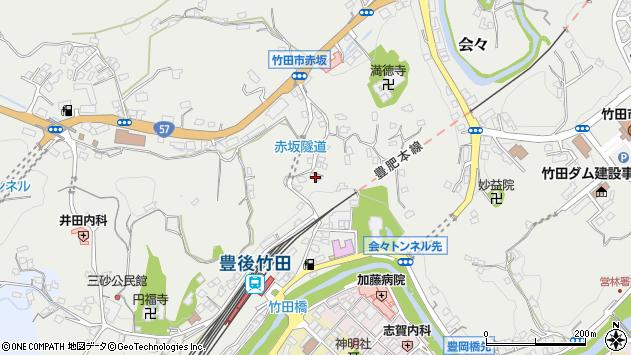 大分県竹田市会々2285周辺の地図