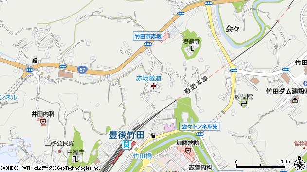 大分県竹田市会々1322周辺の地図
