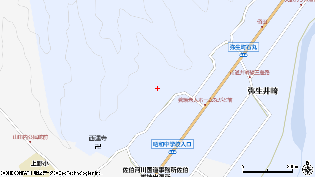 大分県佐伯市弥生大字井崎2351周辺の地図