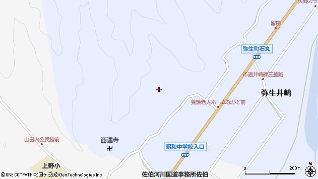 大分県佐伯市弥生大字井崎2349周辺の地図