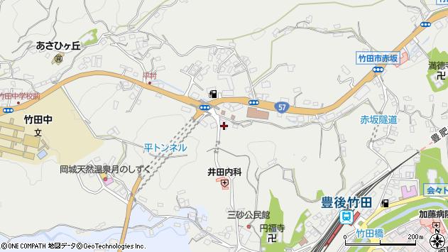 大分県竹田市会々2620周辺の地図
