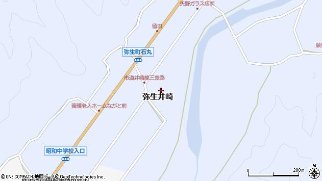 大分県佐伯市弥生大字井崎1092周辺の地図