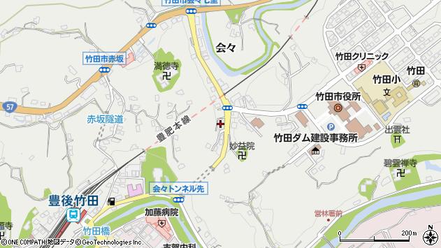 大分県竹田市会々1498周辺の地図