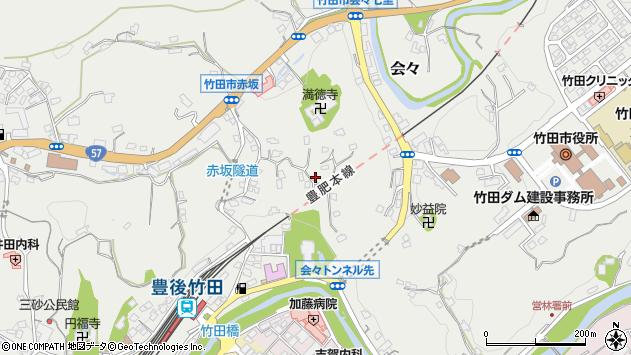 大分県竹田市会々1398周辺の地図