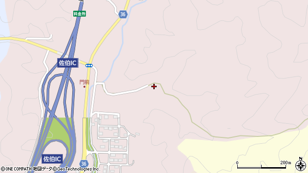 大分県佐伯市上岡3082周辺の地図