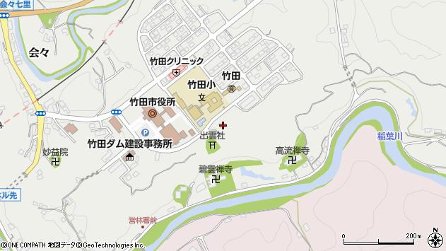 大分県竹田市会々1631周辺の地図