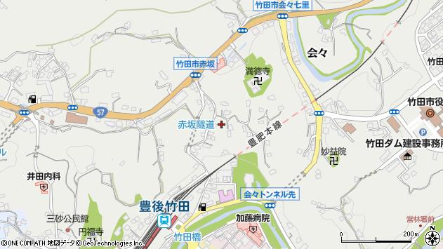 大分県竹田市会々1330周辺の地図
