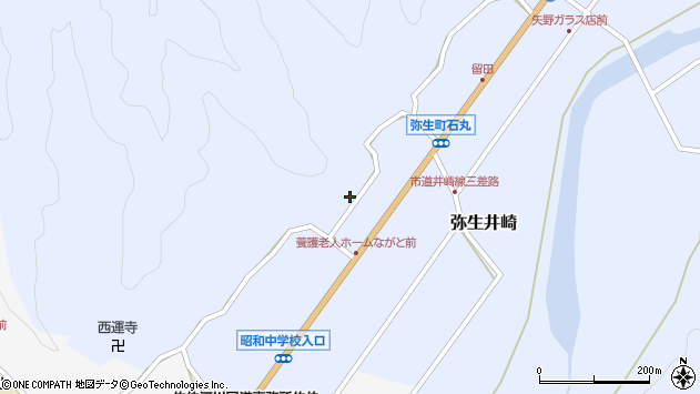 大分県佐伯市弥生大字井崎2289周辺の地図