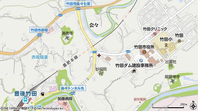 大分県竹田市会々1517周辺の地図