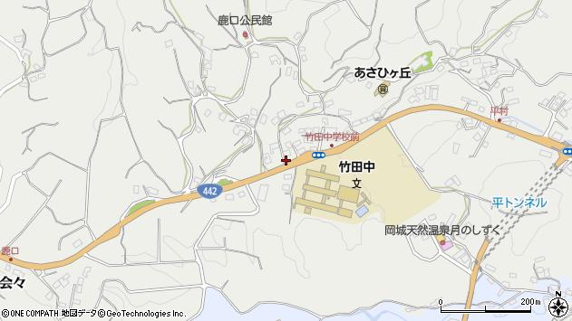 大分県竹田市会々3464周辺の地図