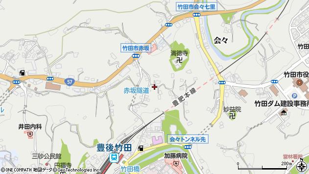 大分県竹田市会々1329周辺の地図