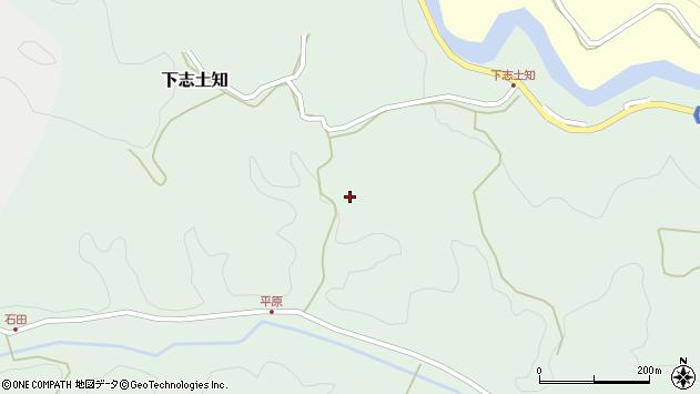 大分県竹田市下志土知922周辺の地図