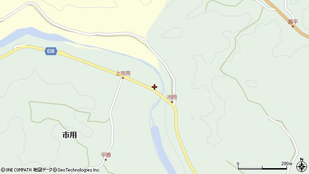 大分県竹田市市用87周辺の地図