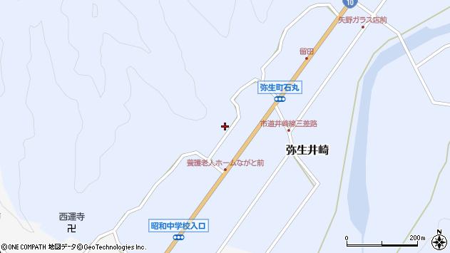 大分県佐伯市弥生大字井崎1416周辺の地図