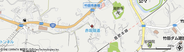 大分県竹田市会々1303周辺の地図