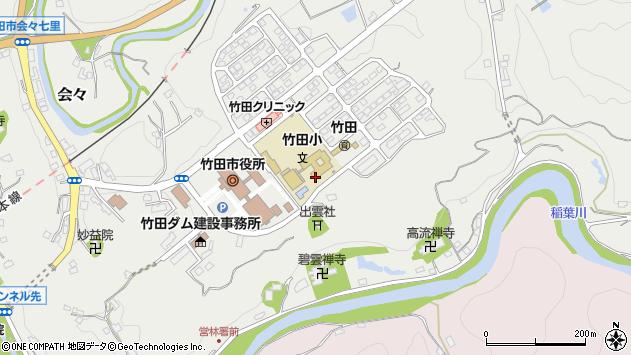 大分県竹田市会々1637周辺の地図