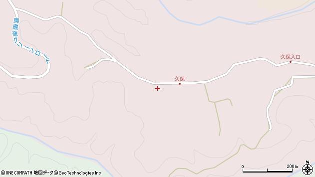 大分県竹田市久保817周辺の地図