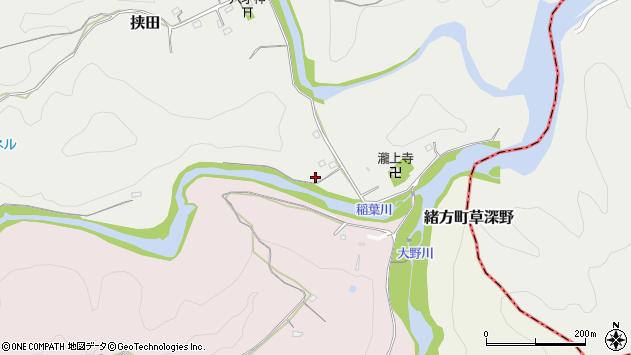 大分県竹田市挟田153周辺の地図