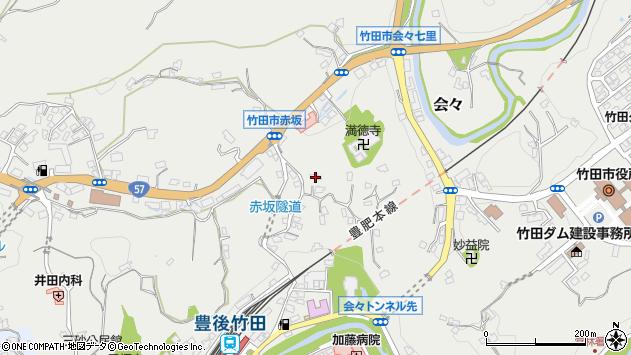 大分県竹田市会々1282周辺の地図