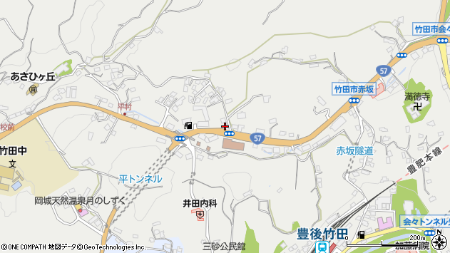 大分県竹田市会々2801周辺の地図