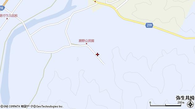 大分県佐伯市弥生大字井崎349周辺の地図