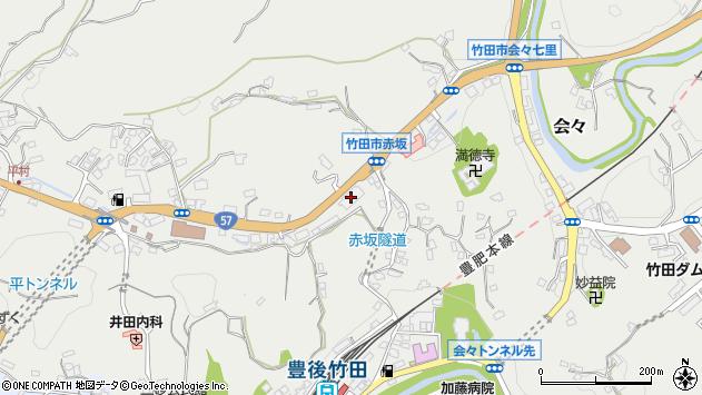 大分県竹田市会々2718周辺の地図