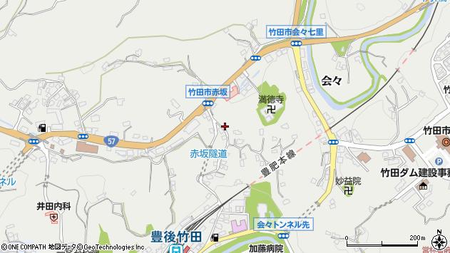 大分県竹田市会々1274周辺の地図