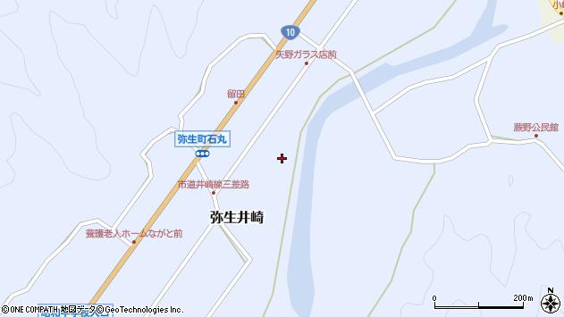 大分県佐伯市弥生大字井崎1023周辺の地図