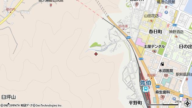 大分県佐伯市田の浦町1周辺の地図