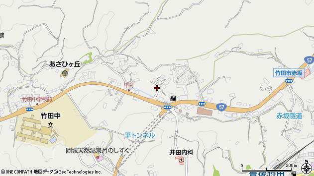 大分県竹田市会々2813周辺の地図