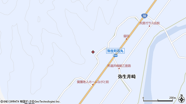 大分県佐伯市弥生大字井崎1445周辺の地図