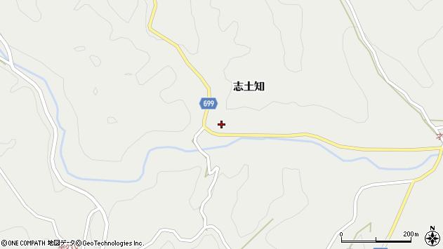 大分県竹田市志土知476周辺の地図