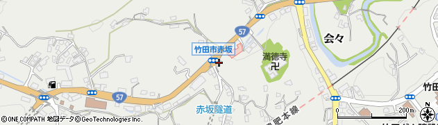 大分県竹田市会々1270周辺の地図