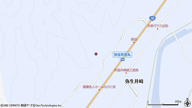 大分県佐伯市弥生大字井崎2282周辺の地図
