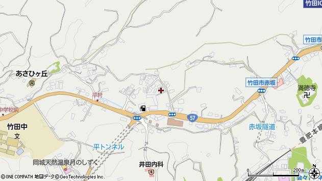 大分県竹田市会々2805周辺の地図