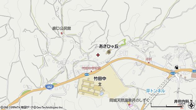 大分県竹田市会々上平周辺の地図