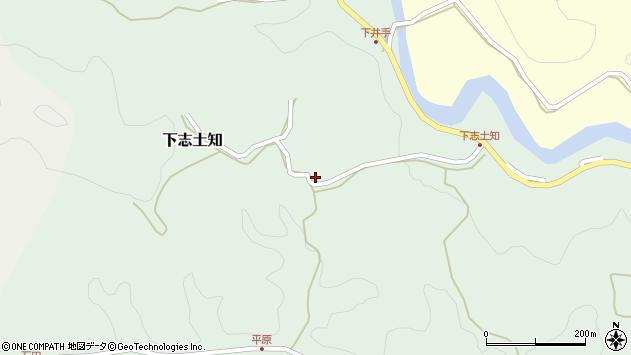 大分県竹田市下志土知642周辺の地図