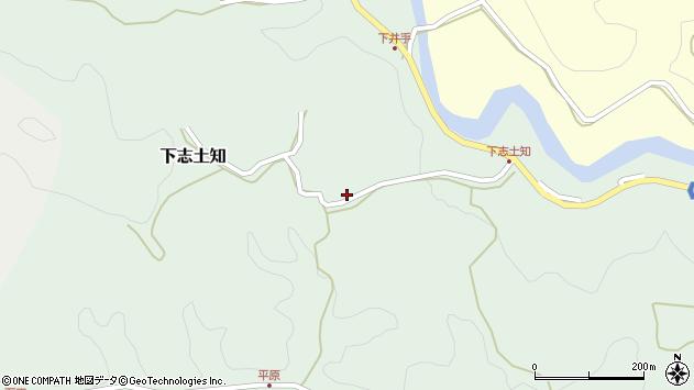 大分県竹田市下志土知648周辺の地図