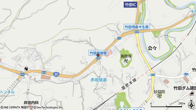 大分県竹田市会々1128周辺の地図