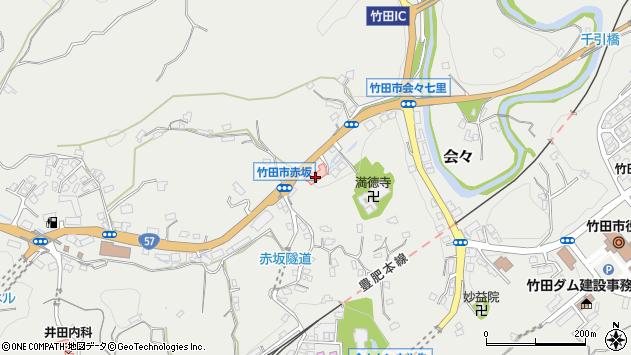 大分県竹田市会々1257周辺の地図