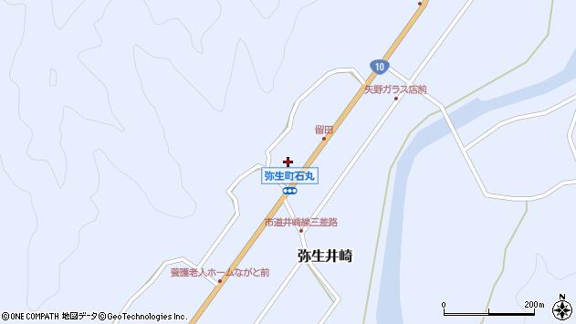 大分県佐伯市弥生大字井崎1498周辺の地図