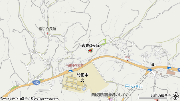 大分県竹田市会々3502周辺の地図