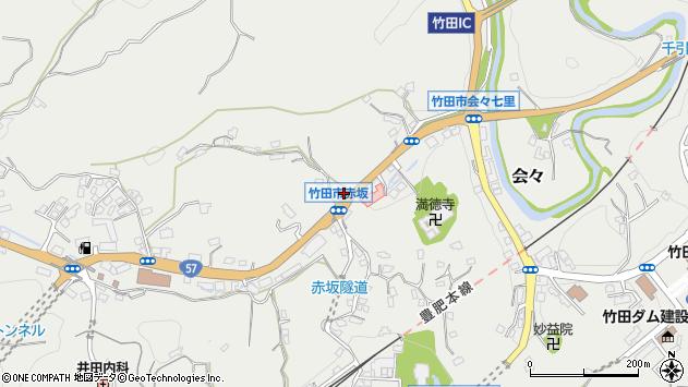 大分県竹田市会々1125周辺の地図