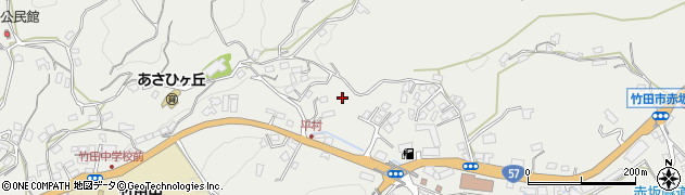 大分県竹田市会々一本木周辺の地図
