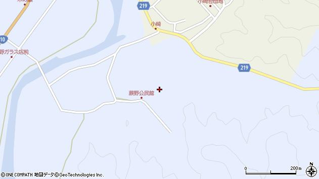 大分県佐伯市弥生大字井崎蕨野周辺の地図