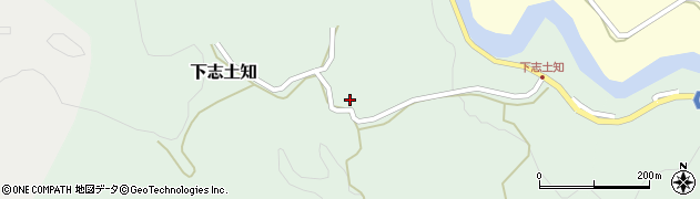 大分県竹田市下志土知643周辺の地図