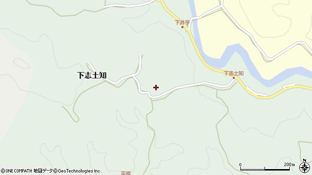 大分県竹田市下志土知646周辺の地図