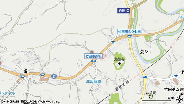大分県竹田市会々1117周辺の地図