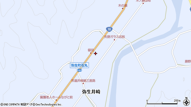 大分県佐伯市弥生大字井崎2642周辺の地図